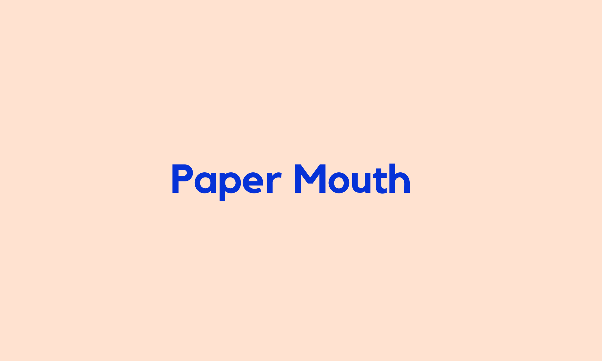 Paper Mouth Theatre
